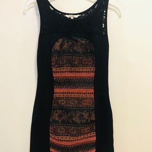BB Dakota black & floral sleeveless dress